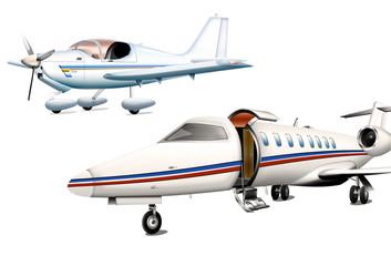 Zwei Privatflugzeuge