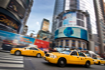 Foto auf AluDibond New York TAXI Taxis - New York, USA