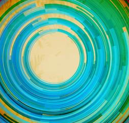 Retro blue swirl shape abstract background