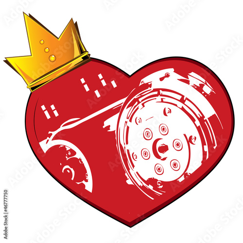 Heart crown and motor