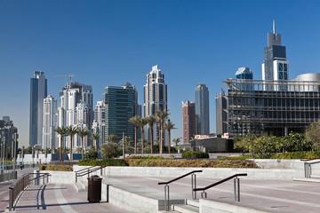 New skyscrapers in Dubai marina