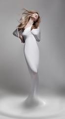 Revival. Venus woman aphrodite in fantastic pose - fantasy