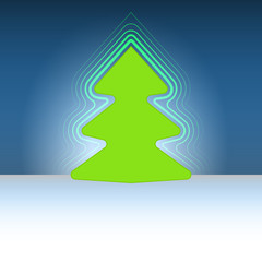 round designed christmas green tree flare vector template