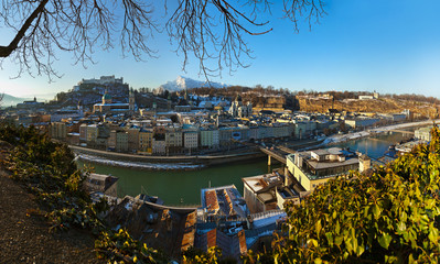 City and castle Hohensalzburg - Salzburg Austria