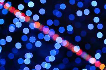 Spots of color of the bokeh, background for design