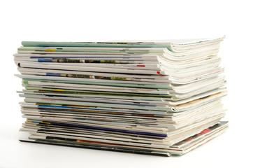 Stapel alter Zeitschriften
