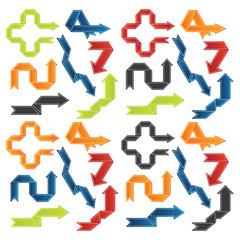 Vector color Origami arrow set