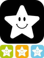 Vector icon isolated - Cute little star smiling