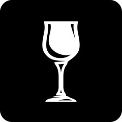 Vector icon isolated on white - Wineglass