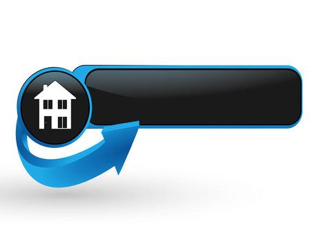 immobilier sur bouton web design bleu