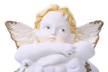 Statue of an angel on a cloud