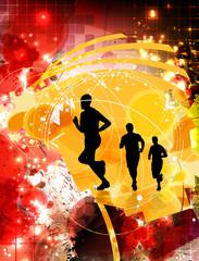 Runners. Sport illustration