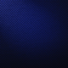 A realistic blue carbon fiber weave background or texture