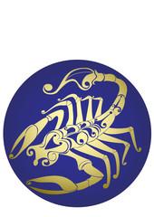 Scorpio. Vector zodiac