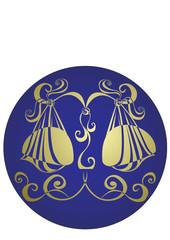 Libra. Astrology sign. Vector zodiac