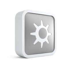3d sun summer season icon