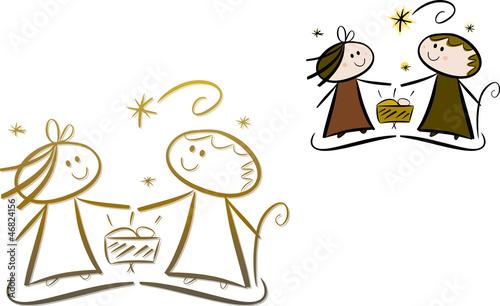 """""""Cartoon-Krippenszene: Maria, Josef und Jesuskind (Set ..."""