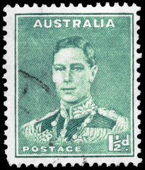 AUSTRALIA - CIRCA 1941 King George VI