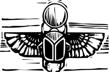 Egyptian Winged Scarab