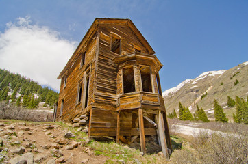The Largest Preserved House in Animas Forks, a Ghost Town in the