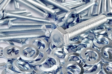 Metal nuts and bolts