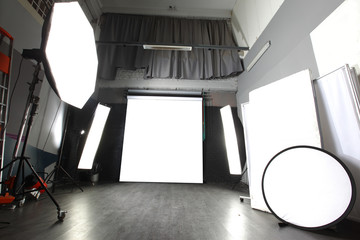 interior of a modern photo studio
