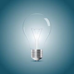 Bulb lamp realistic illustration