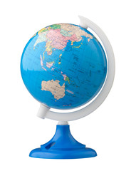 Terrestrial globe for learning about world map