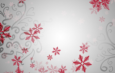 Beautiful snowflake silver Christmas background with copyspace