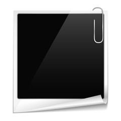Photo frame with curl and paper clip