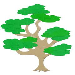 Rice paper cut big tree