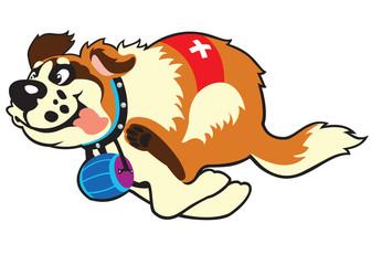 cartoon st bernard dog