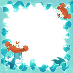 The artistic cartoon frame  - illustration for the children