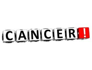 3D Cancer Button Click Here Block Text