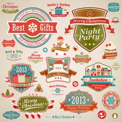 Wall Mural - Christmas vintage set