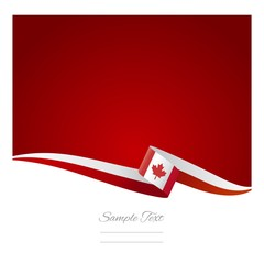 Canadian flag abstract color background vector