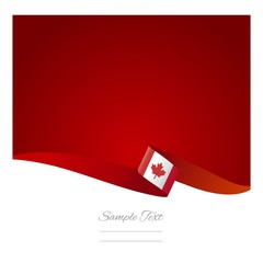 Abstract color background Canadian flag vector