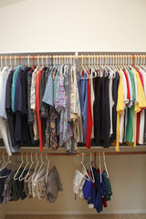 Men's Clothes in a Closet