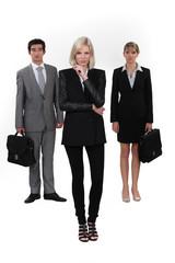 Elegant businesspeople