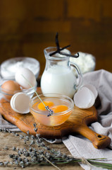 Lavender , milk , eggs , cottage cheese
