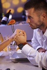 Romantic dinner with engagement