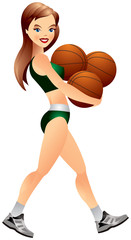 Basketball cheerleader girl
