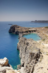 St. Paul's bay in Lindos, Rhodes