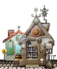 Printed kitchen splashbacks Imagination Toy farmhouse
