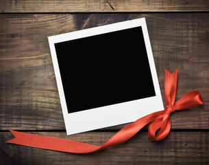 photo frame with a red bow