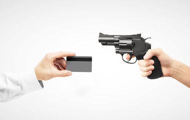 card and revolver