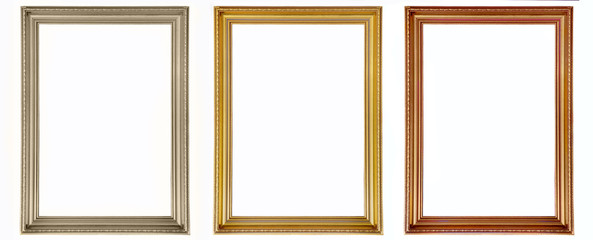 Isolated old vintage frames