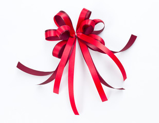 Gift bow red ribbon