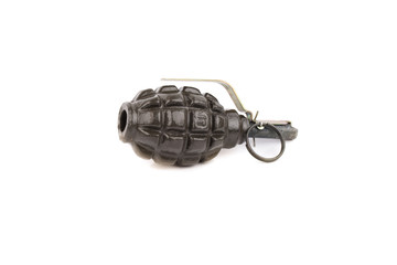 explosive grenade isolated on a white background