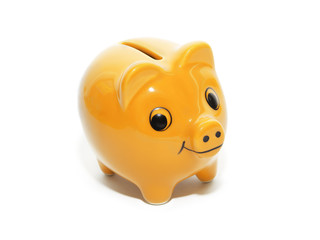 yellow money pig